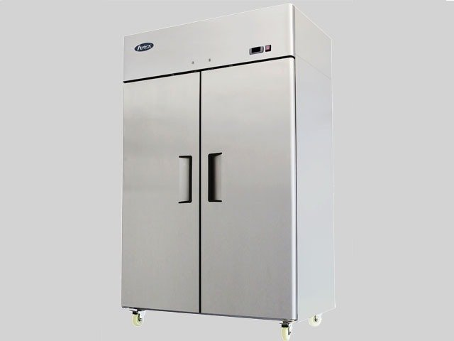 Top Mount Two Door Up Right Stainless Steel Refrigerator