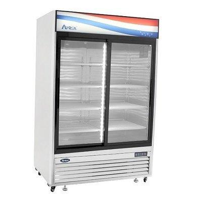 Bottom Mount (2) Two Sliding Glass Doors Refrigerator