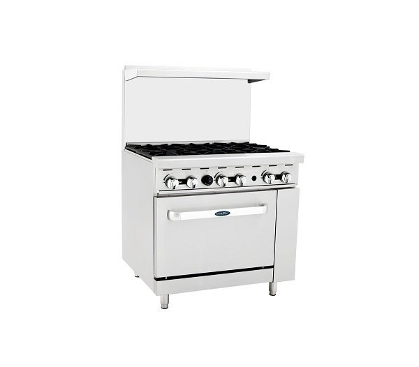 """Atosa ATO-6B Gas Range (6) Burner With 26"""" Wide Oven"""