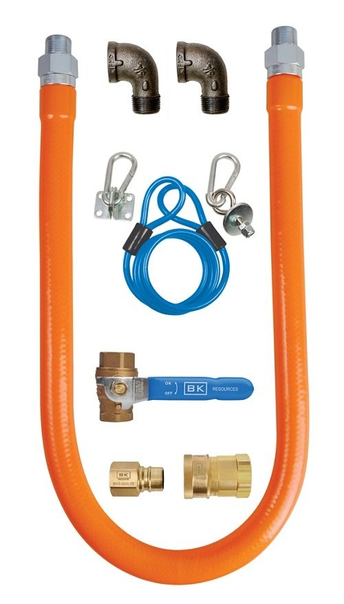 "3/4"" X 48"" GAS HOSE CONNECTOR KIT"