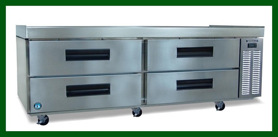 "Hoshizaki 72"", Refrigerator, Two Section Equipment Stand with Four Drawers"