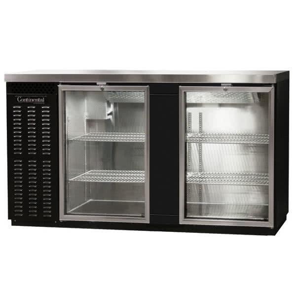 "Continental Refrigerator BBC69-GD 69"" Glass Door Back Bar Refrigerator"