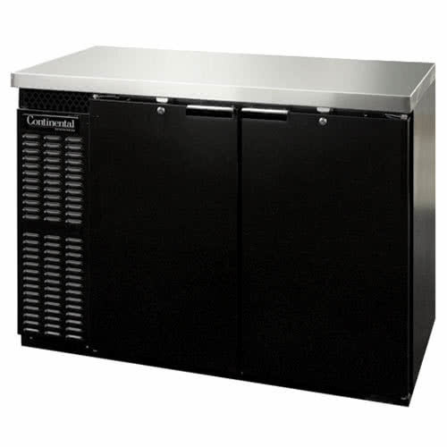 "Continental Refrigerator BBC59 59"" Solid Door Back Bar Refrigerator"