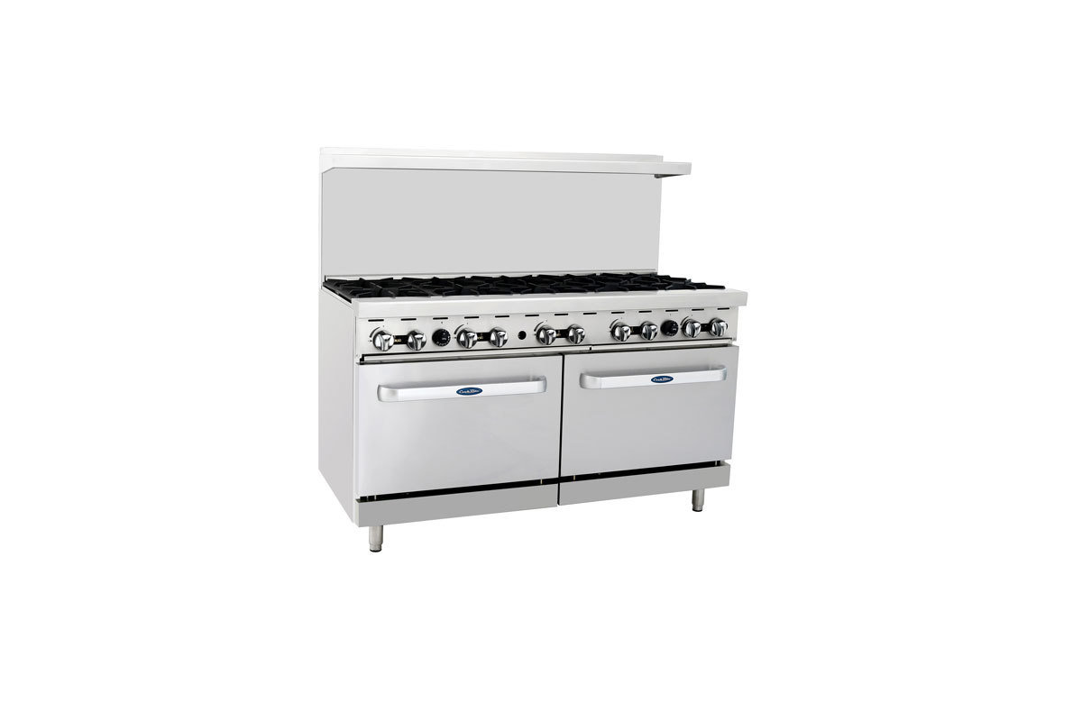 "Atosa 10 Burner 60"" with Two 26"" Ovens"