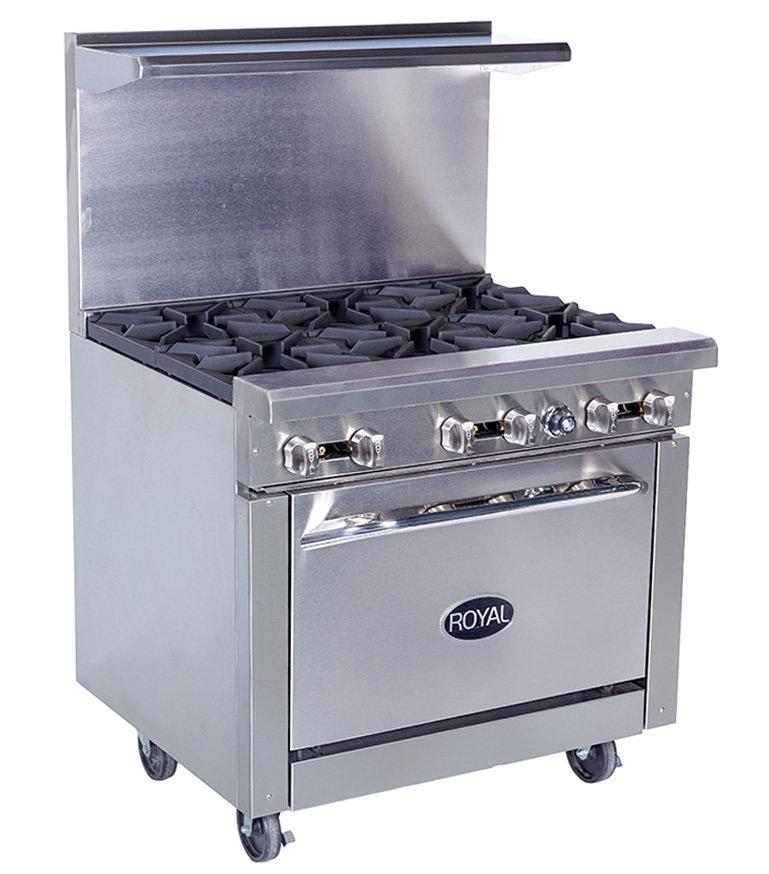 "Royal Six Burner 36""Range Gas with oven"