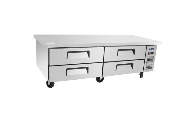 "Atosa 72"" Chef Base with 72"" Cabinet, Four Drawers"
