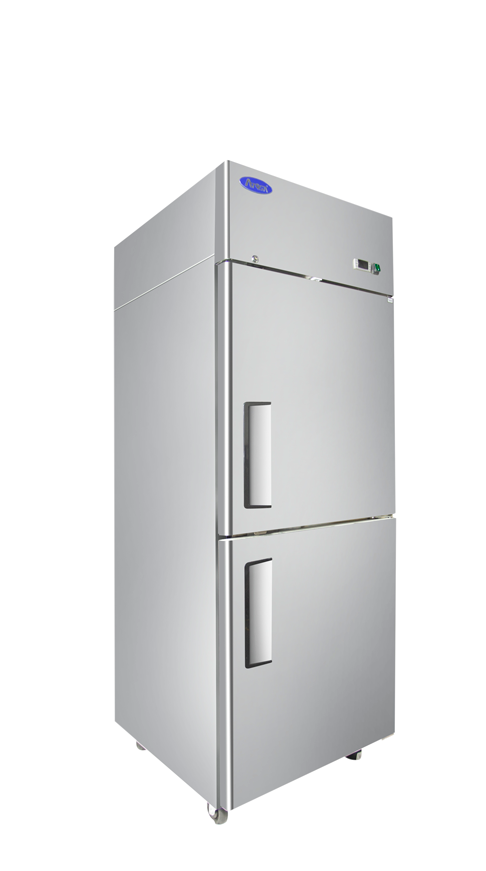 Atosa MBF8010GR Top Mount Refrigerator ½ door, Two Divided Door