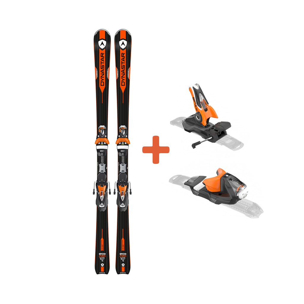 Dynastar Speed Zone 12Ti Skis + SPX 12 Konect Dual WTR B80 Black-Orange Bindings