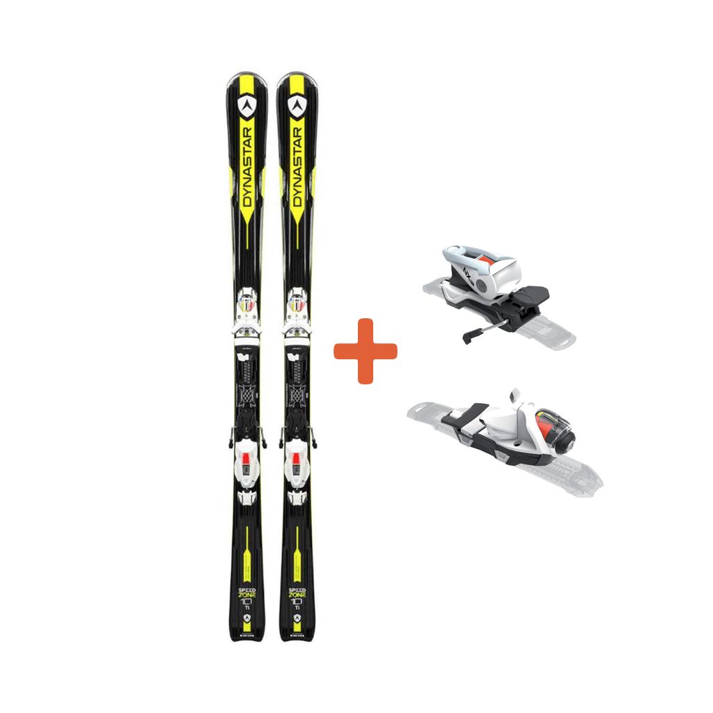 Dynastar Speed Zone 10 Ti Skis + SPX 12 Konect Dual WTR B80 White Icon Bindings