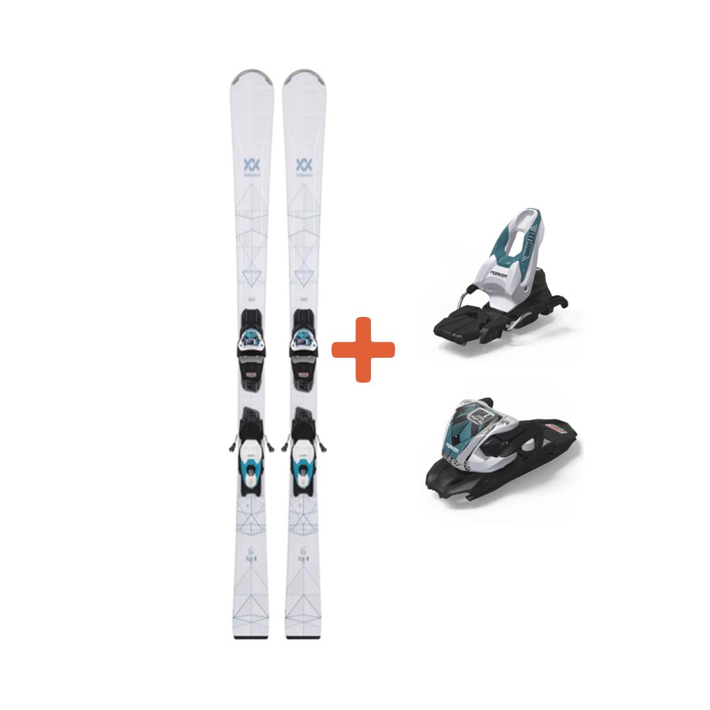Volkl Flair 76 Skis + VMotion 10 GW Lady Teal Bindings