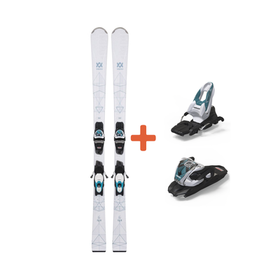 Volkl Flair 76 Skis + VMotion 10 GW Lady Teal Bindings