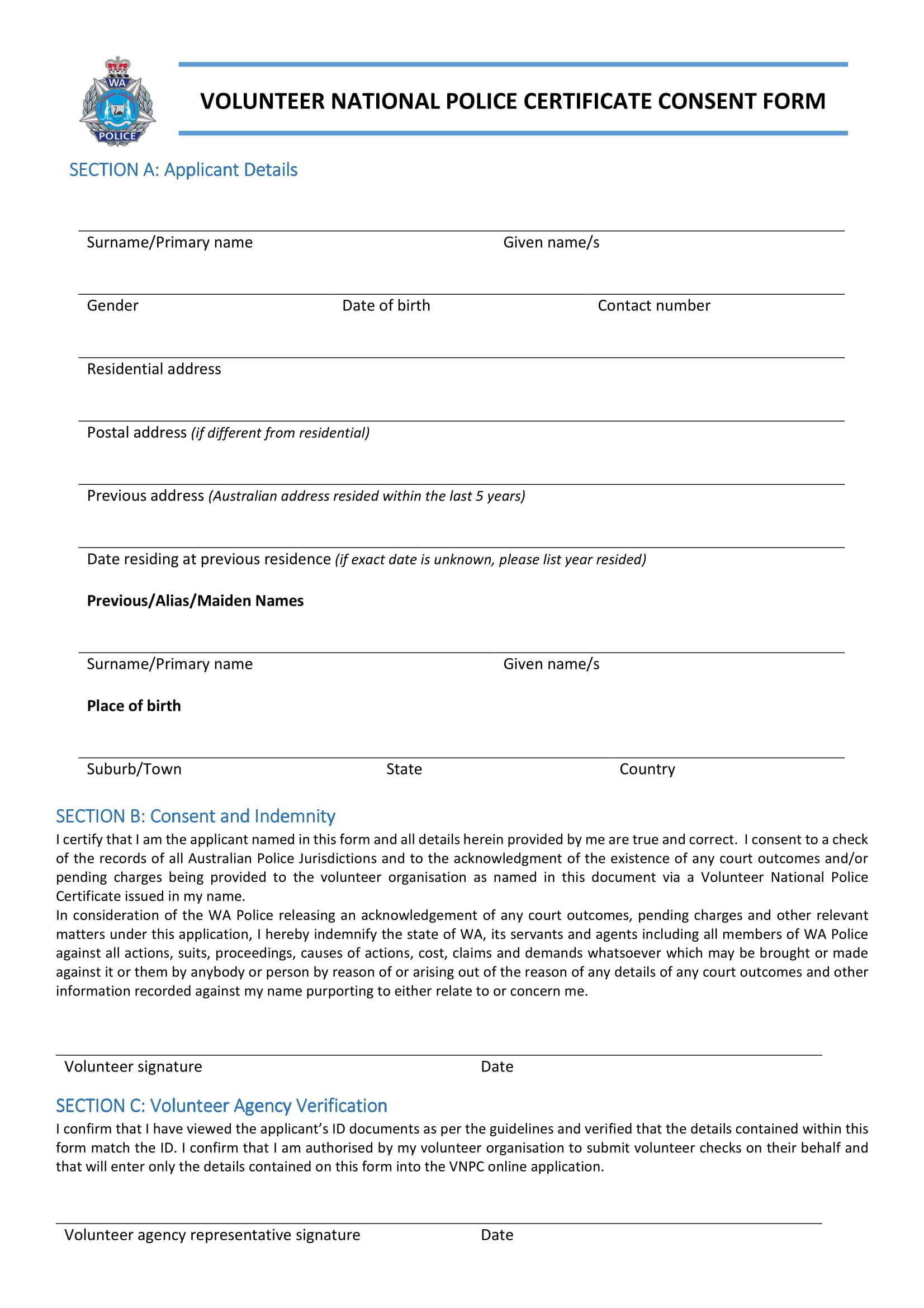 Volunteer Police Clearance 00005