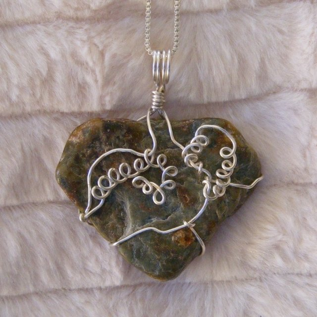 "Spirit of the Athabasca River ""Loving Heart"" Pendant"