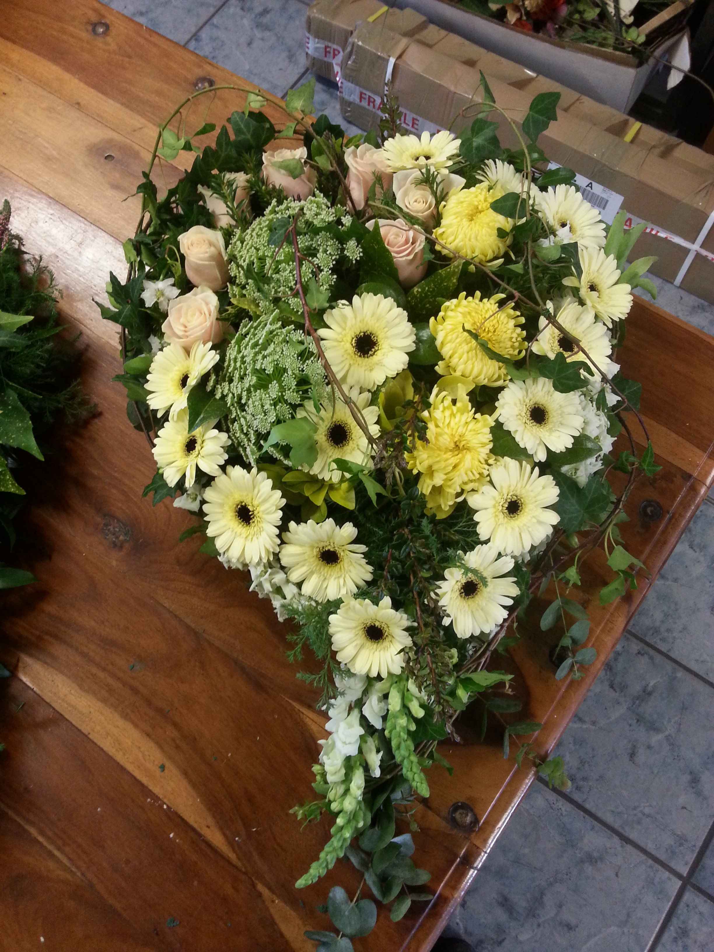 Specialist funeral flowers here at andreas florist we pride our selfs in the quality and personal service we give our clients when you lose a loved onewe understand how hard and a izmirmasajfo Gallery