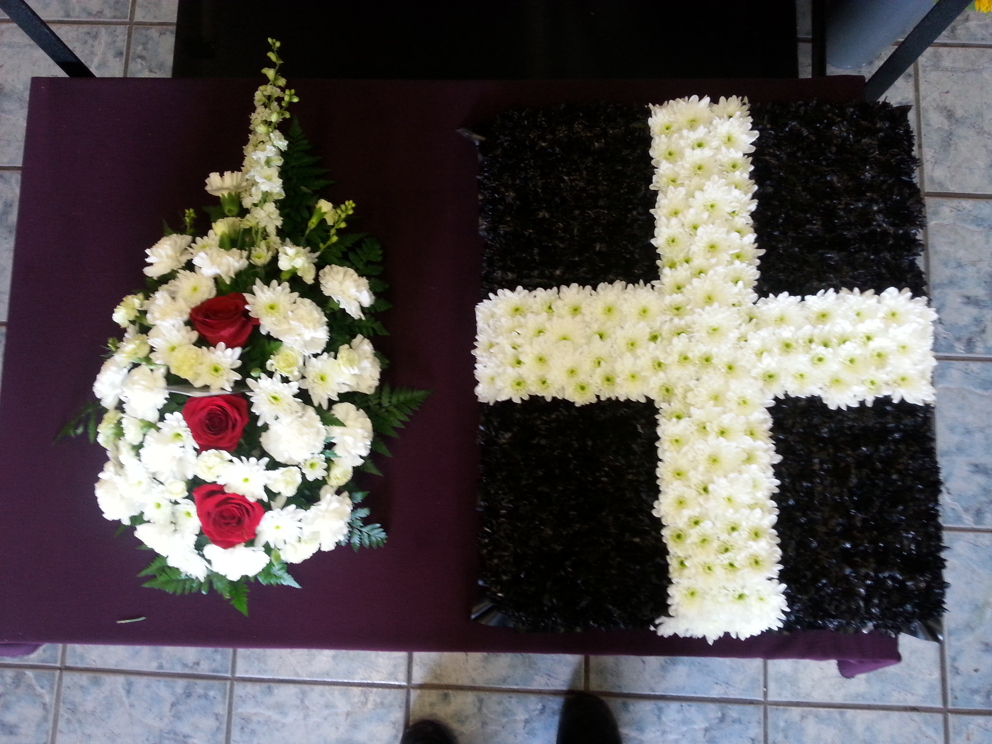 Specialist funeral flowers single end spray beside the cornish flag izmirmasajfo Gallery