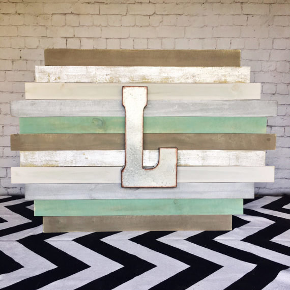 Staggered Plank Wall Art