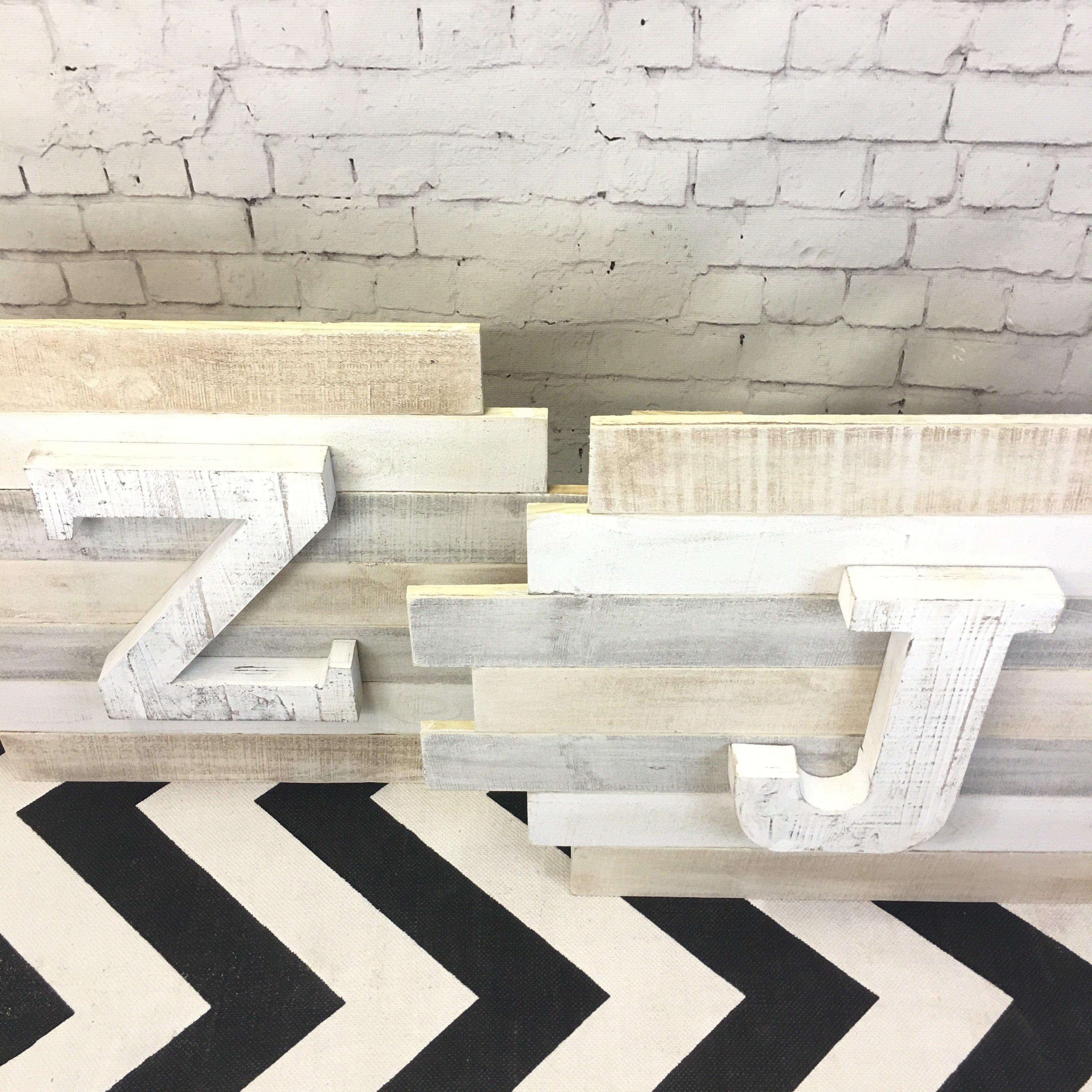 Mini Staggered Plank Wall Art
