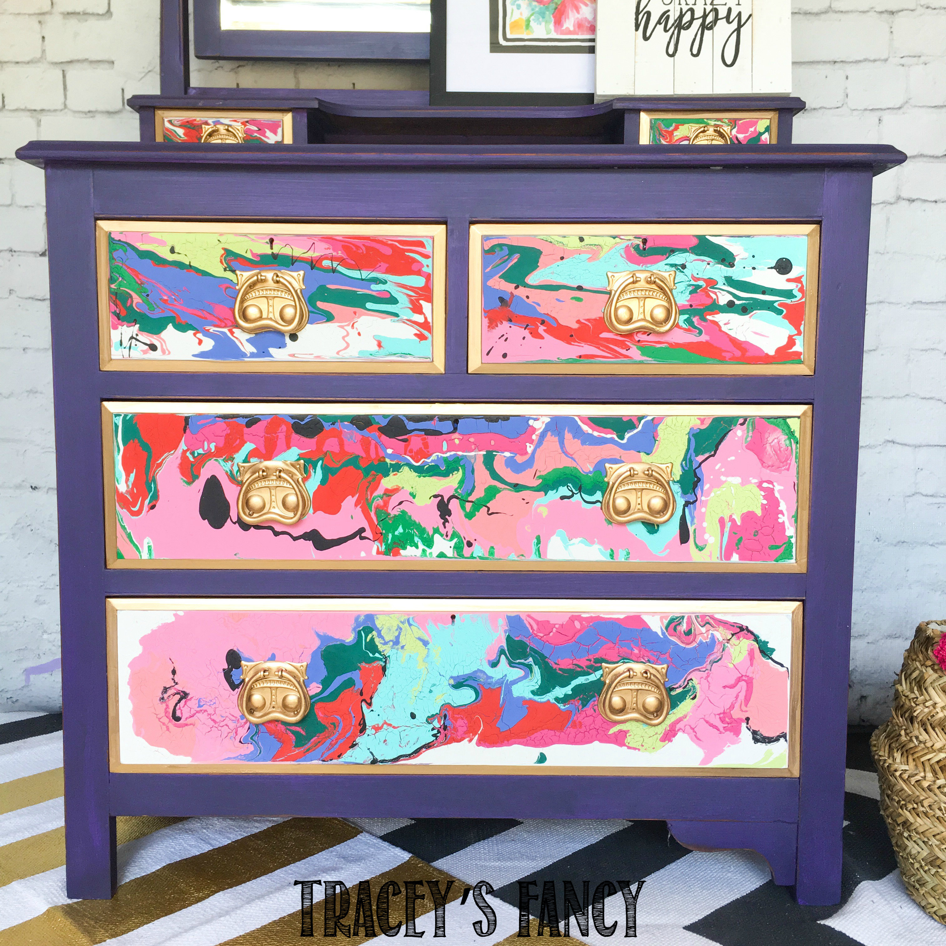 Easy Color Pour on Furniture Tutorial 00133