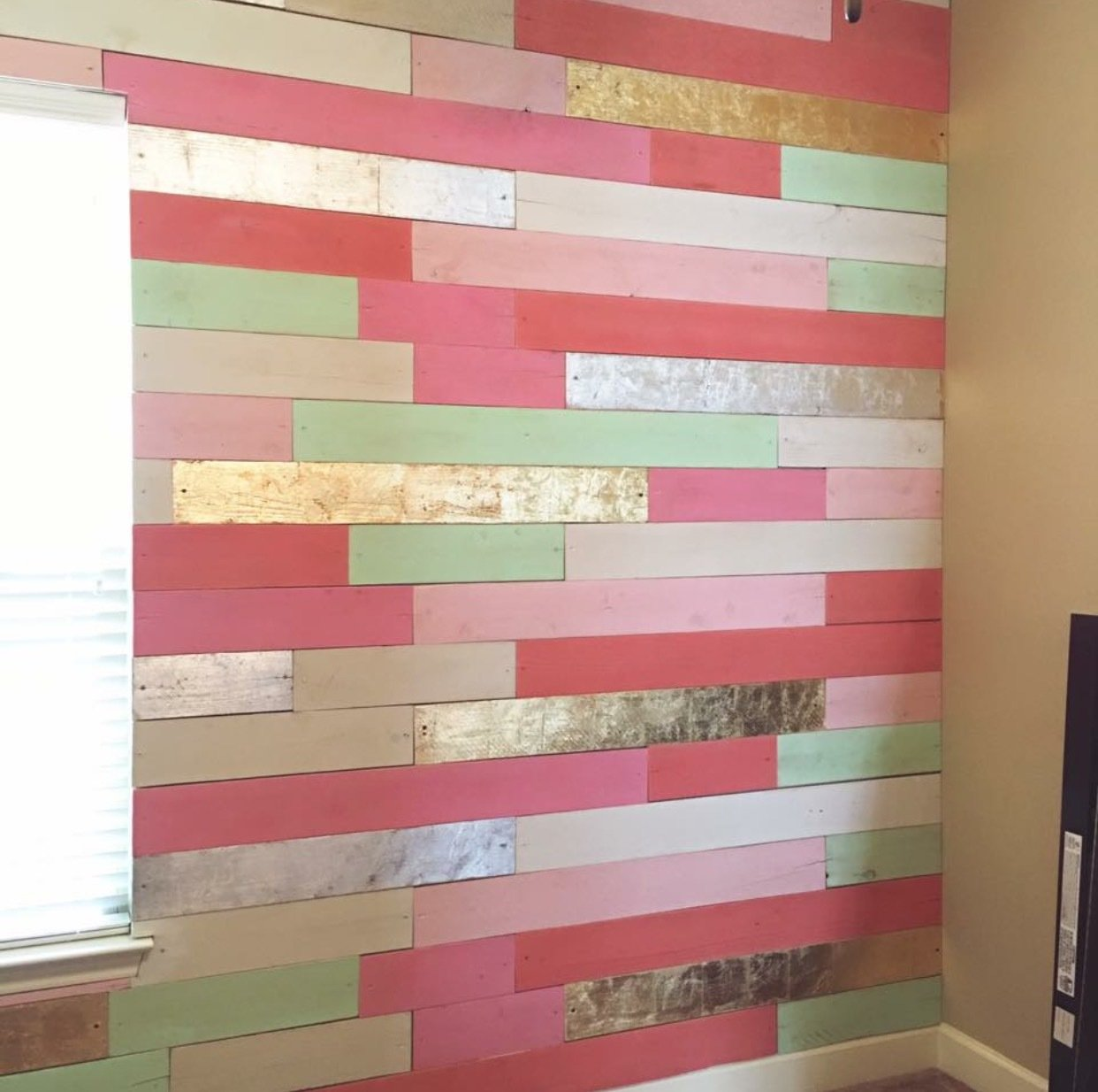 Custom Metallic Plank Wall Quote
