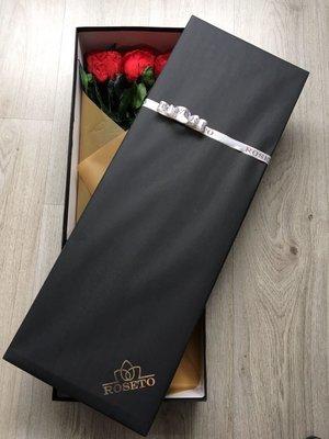 Rectangular box 6 rosas eternizadas con tallo