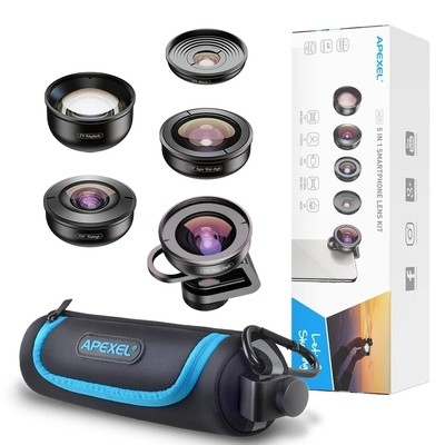 Apexel 5 in 1 Professional HD Phone Lens [New 2019]