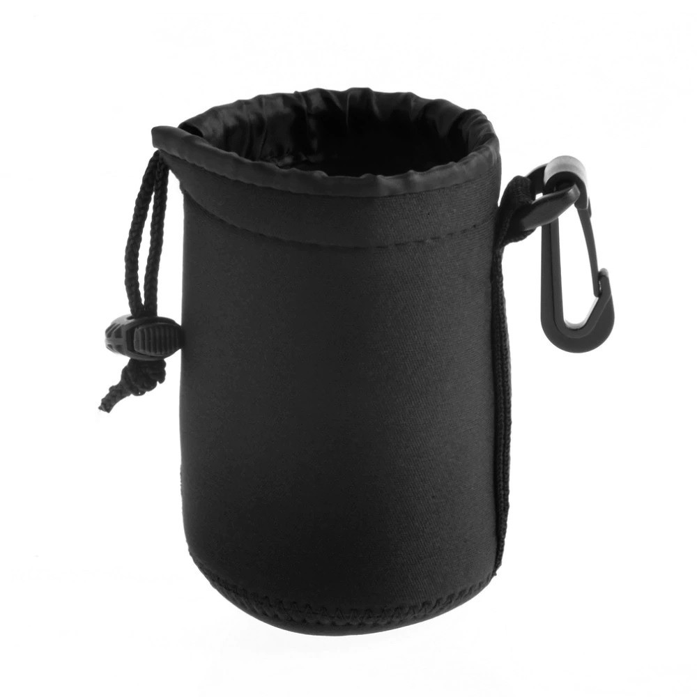Soft Black Nylon Lens Pouch Bag [NO COD]