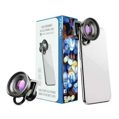 APEXEL HD 30mm-80mm Macro Phone Lens (10cm Focus distance)
