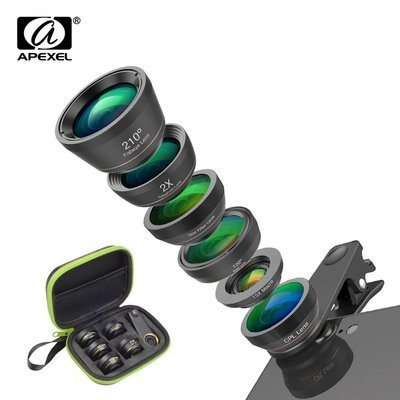 [Prebook] Apexel NEW 6 in 1 Phone Lens Pack [Upgraded Lens]