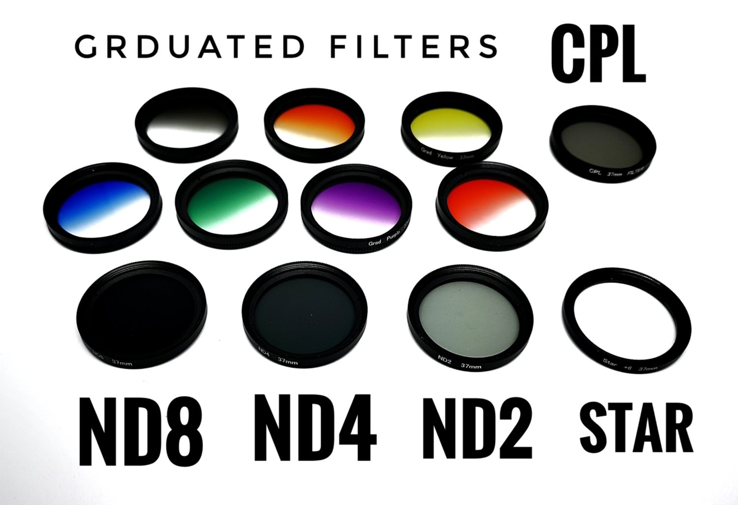 Liginn 12in1 ND Filters + Graduated Filters + Star Filter + CPL Filter for phone [New]