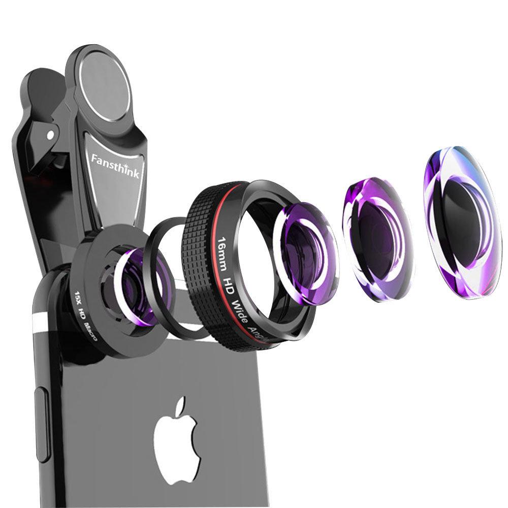 Liginn 16mm Super Wide Angle Lens + 15x Macro Lens