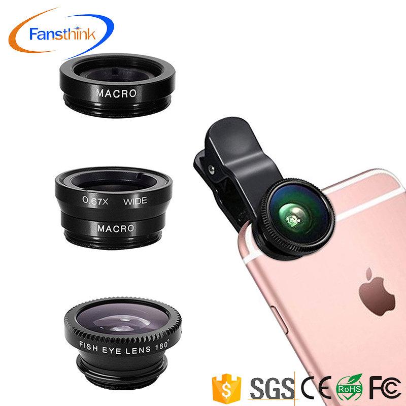 3 in 1 Phone Lens Combo (Macro, Wide, Fisheye)