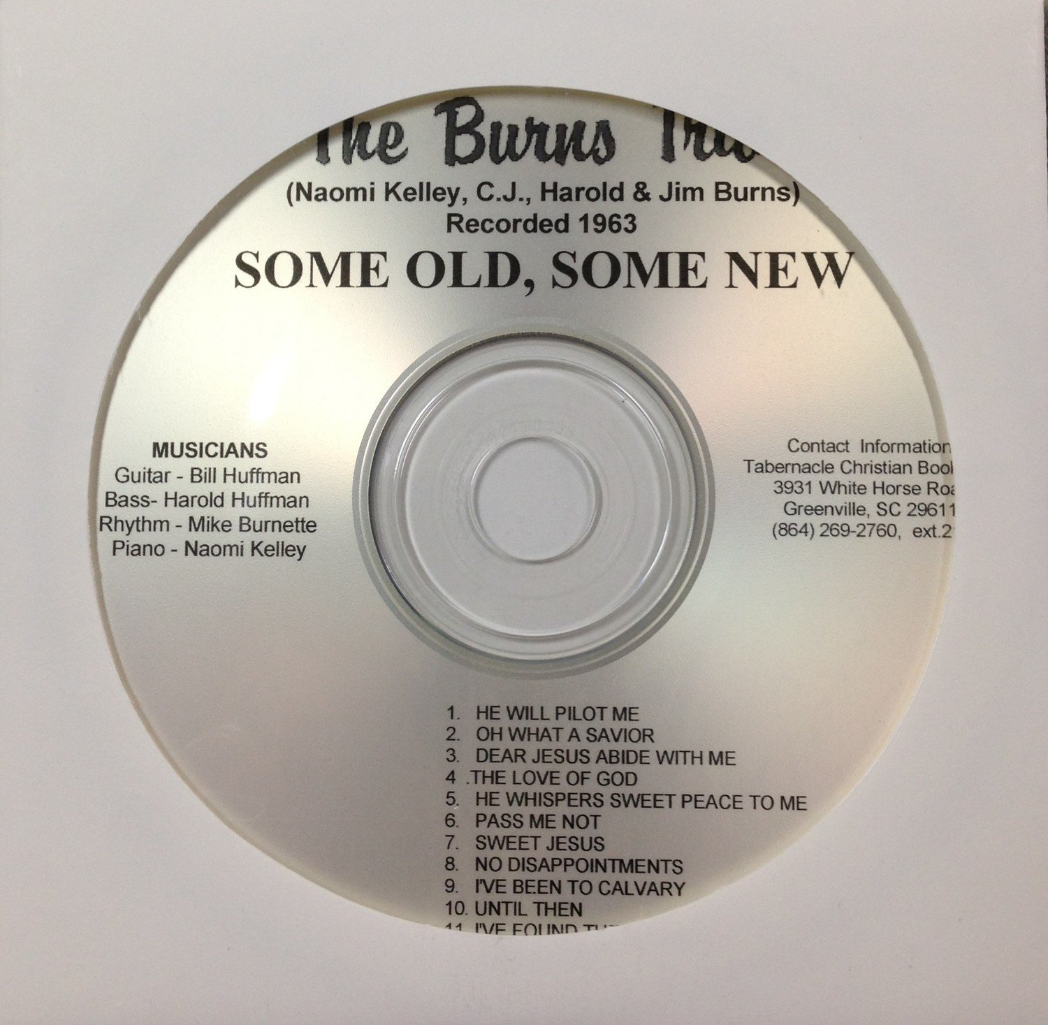The Burns Trio:  Some Old, Some New  CD