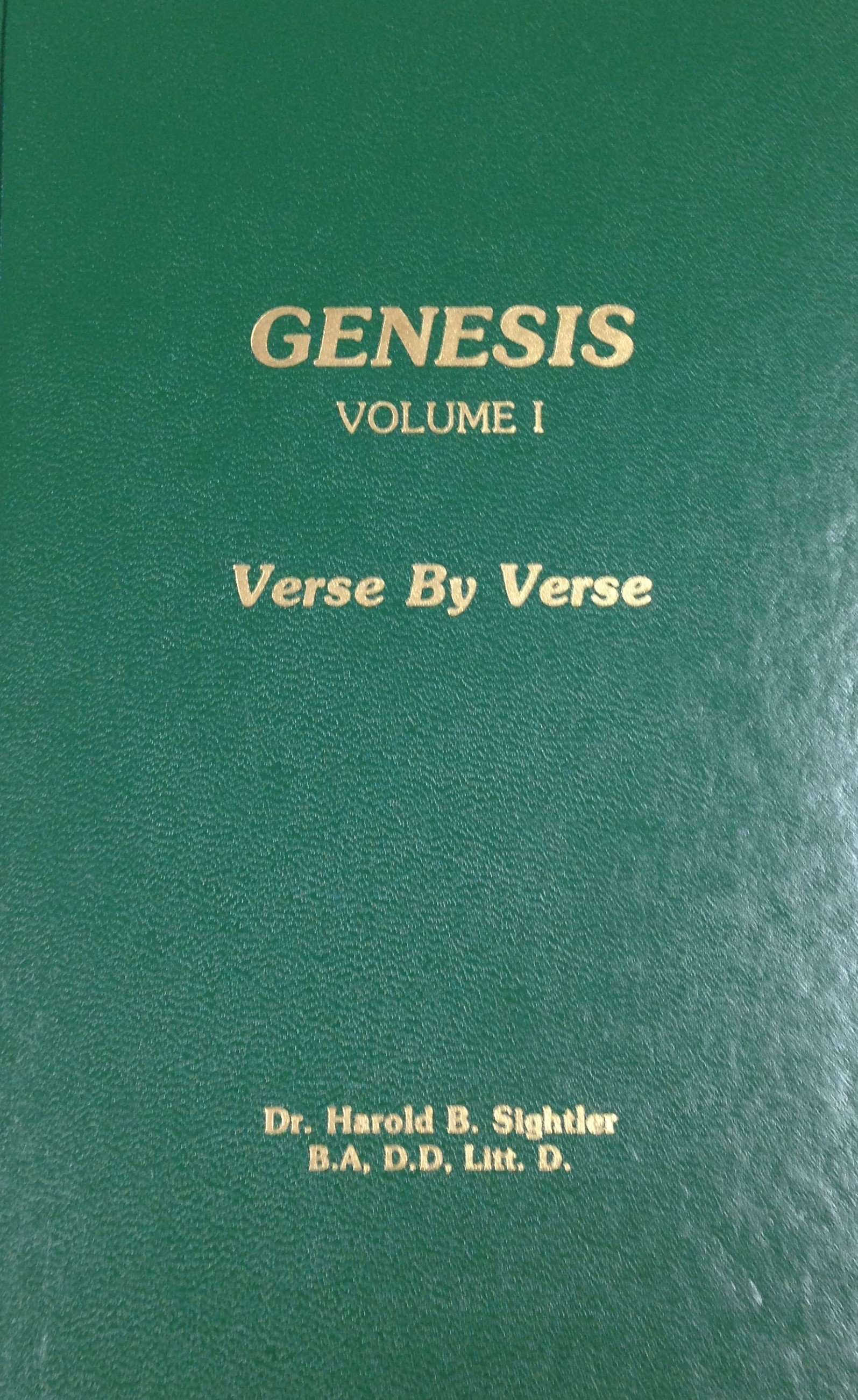 Genesis:  Volume I by Dr. Harold B. Sightler 00049