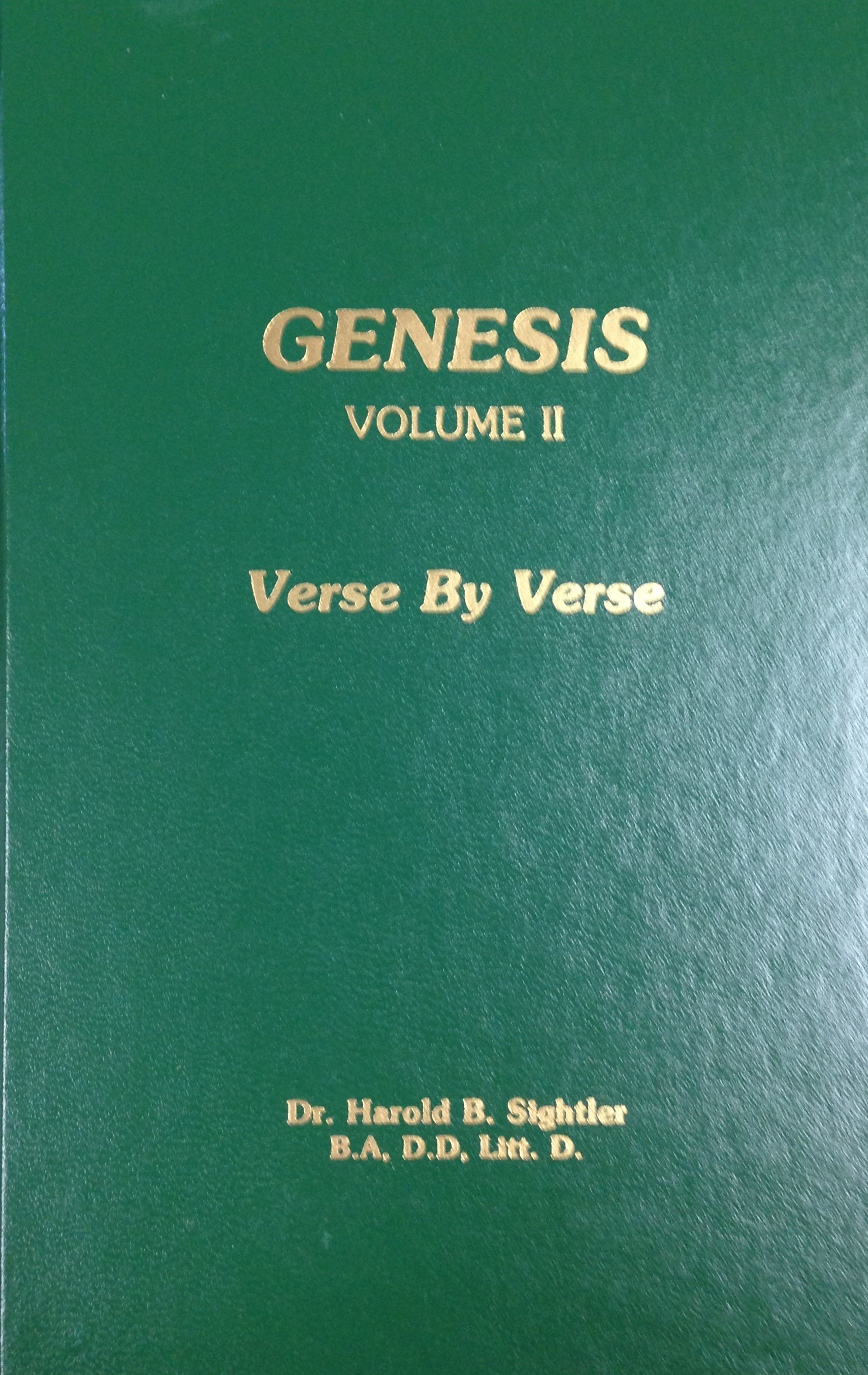 Genesis: Volume II by Dr. Harold B. Sightler 00050