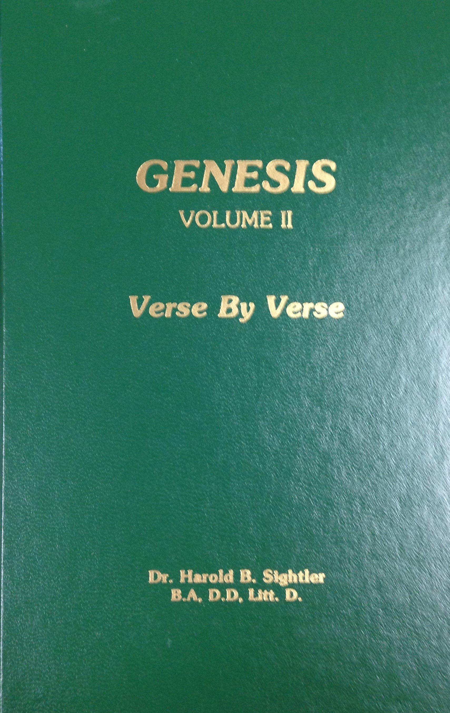 Genesis: Volume II by Dr. Harold B. Sightler 00050