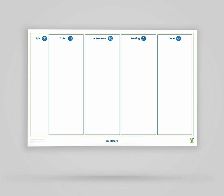 Scrum Epic Board - Whiteboard Poster