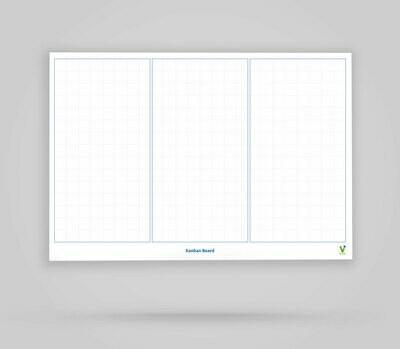 Kanban Board Template 3 Columns Blank - Whiteboard Poster