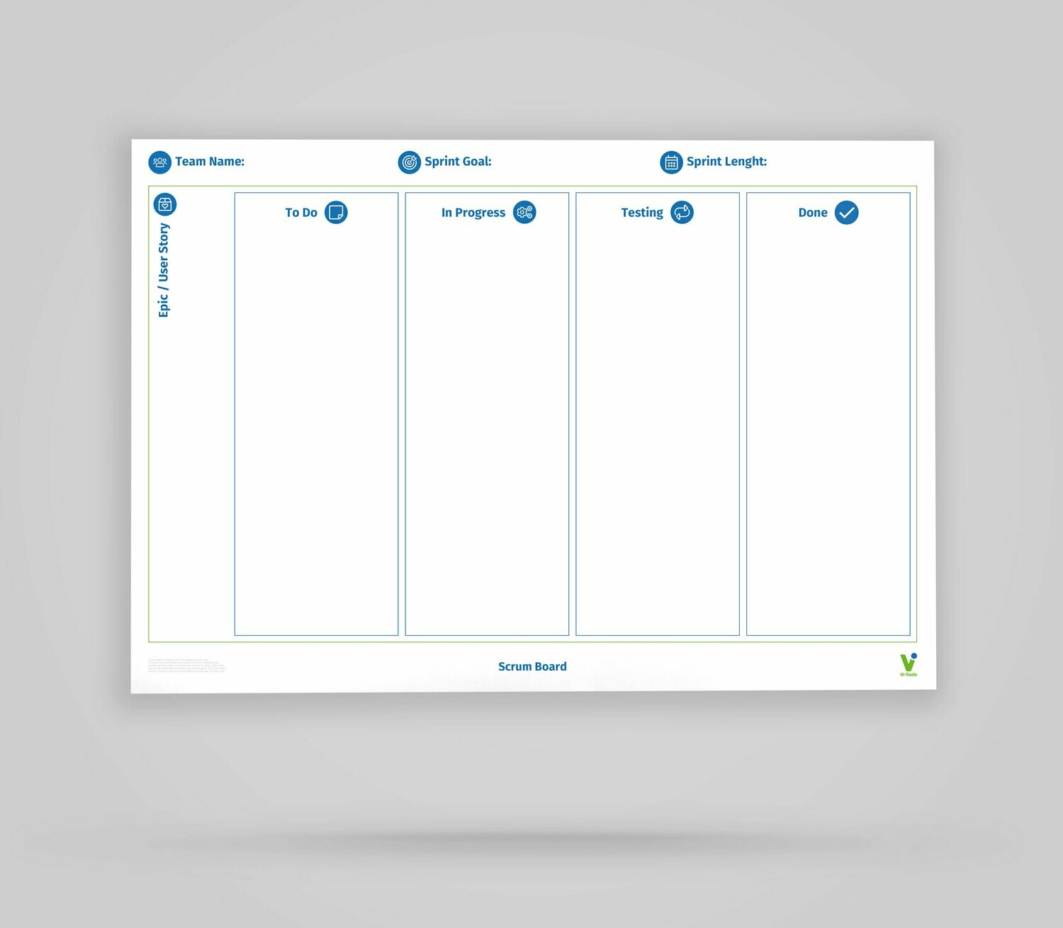 one side blank; 85x118 cm double-sided Vi-Board Lean Canvas//Whiteboard: rollable reusable mobile whiteboard poster; one side with Lean Canvas template approximately 34x47 inches