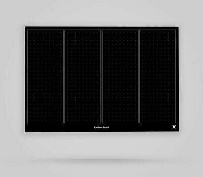 Kanban Board Template 4 Columns Blank - Blackboard Poster