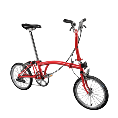 Brompton color rojo