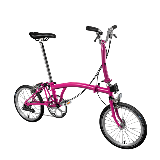 Brompton color hot pink