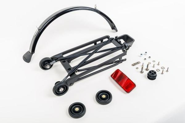 Brompton - Kit Portaequipajes completo con guardabarros negro 42035