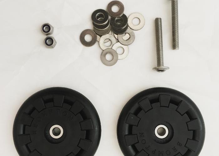 Brompton - Par rueditas Eazy Wheel (diámetro interior 5mm) QEZW-M5