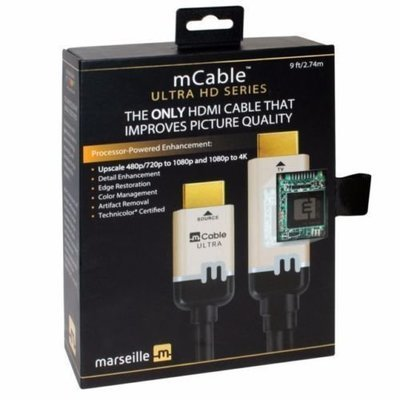 Marseille mCable Upscaling UHD HDMI Cable Convert 1080p To 4K ultra 9ft Cable