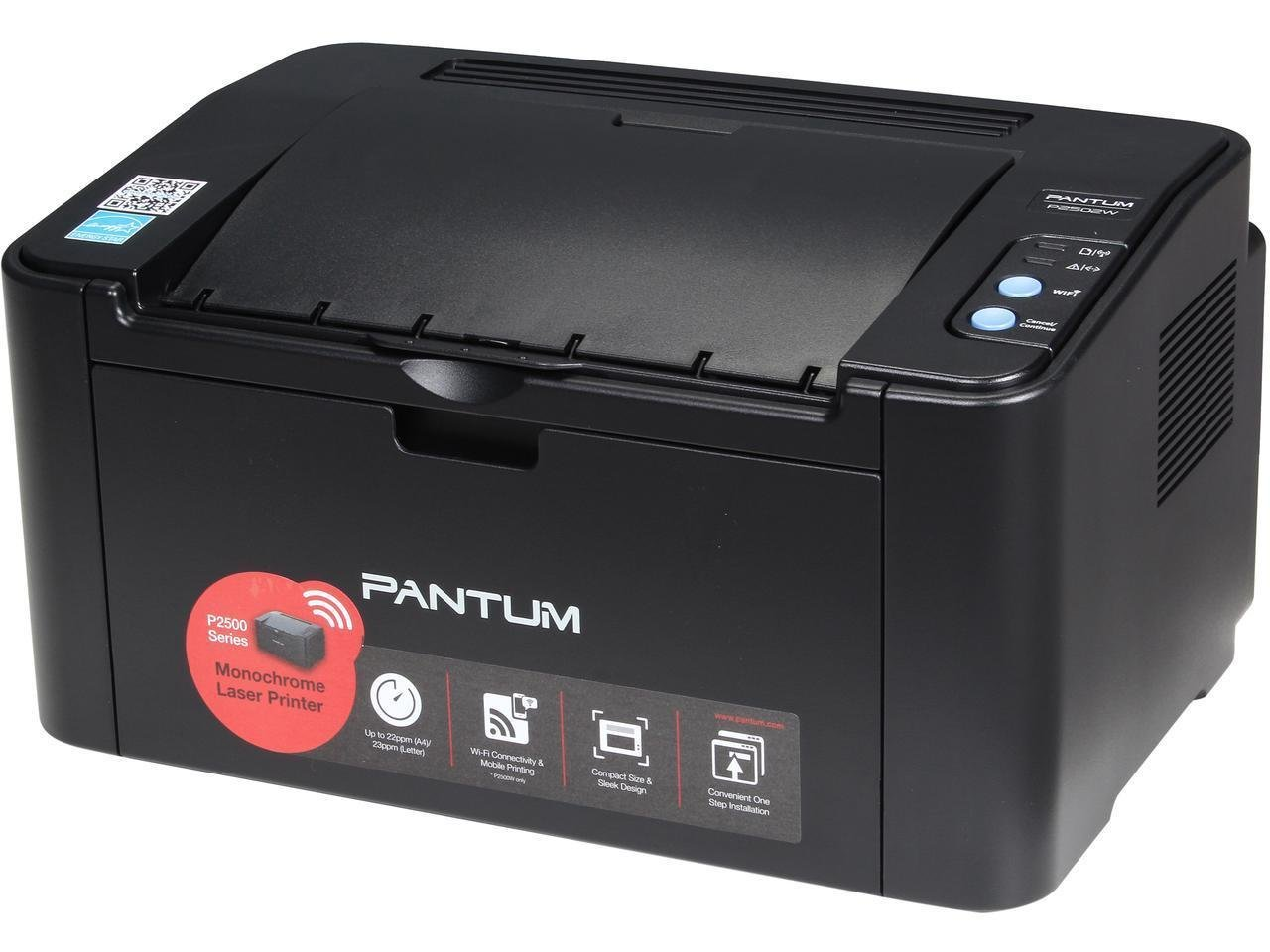 Pantum P2502W 1200 x 1200 DPI Wireless / USB Monochrome Laser Printer