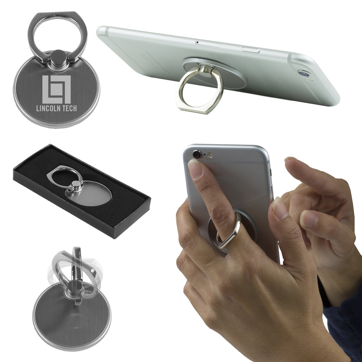 Mobile Phone Metal Ring Holder and Stand