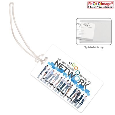 Color Process Slip-In Pocket Luggage Bag Tag