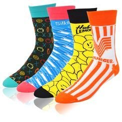 Colorful Custom Printed Dress Socks. As low as $3.95/pair