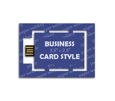 Paper Webkey Business Card  3.5 x 2. Full color printing.  Delivered.