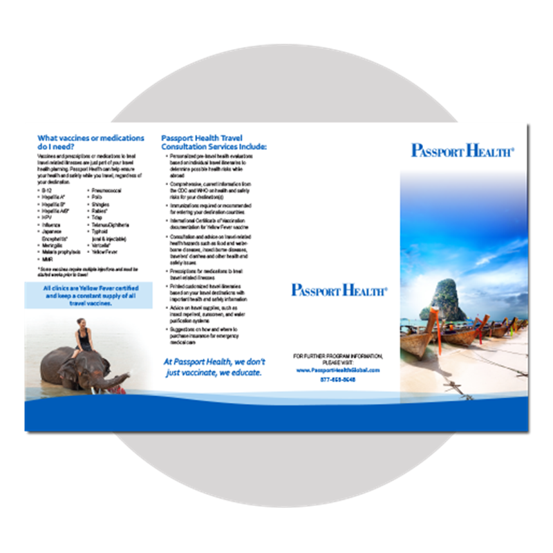 Passport Travel Brochure  -  6 day production.